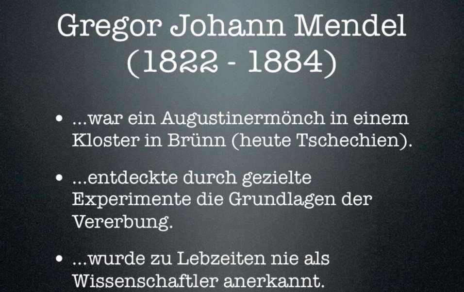 Gregor Johann Mendel Video Foto